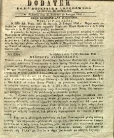 Dziennik Urzędowy Gubernii Radomskiej, 1846, nr 6, dod.