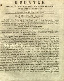 Dziennik Urzędowy Gubernii Radomskiej, 1846, nr 13, dod.