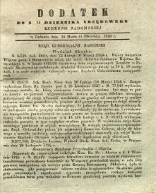 Dziennik Urzędowy Gubernii Radomskiej, 1846, nr 14, dod.