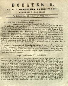 Dziennik Urzędowy Gubernii Radomskiej, 1846, nr 18, dod. II
