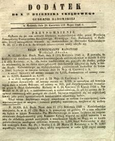 Dziennik Urzędowy Gubernii Radomskiej, 1846, nr 18, dod.