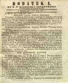 Dziennik Urzędowy Gubernii Radomskiej, 1846, nr 20, dod. I