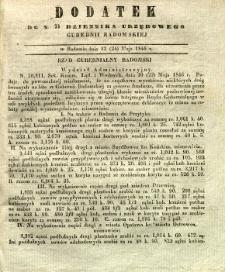Dziennik Urzędowy Gubernii Radomskiej, 1846, nr 21, dod.