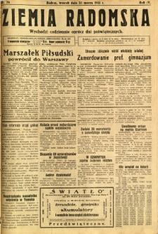 Ziemia Radomska, 1931, R. 4, nr 74