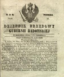 Dziennik Urzędowy Gubernii Radomskiej, 1846, nr 25
