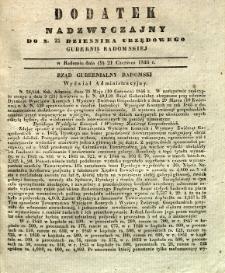 Dziennik Urzędowy Gubernii Radomskiej, 1846, nr 25, dod.