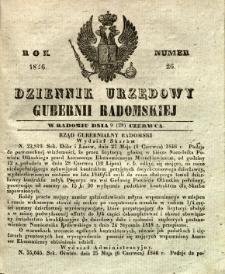 Dziennik Urzędowy Gubernii Radomskiej, 1846, nr 26