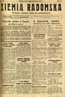 Ziemia Radomska, 1931, R. 4, nr 75