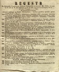 Regestr do Dziennika Urzędowego Gubernii Radomskiej za kwartał III. 1846 r. to jest: od N. 27 do N. 39 włącznie, czyli od dnia 23 Czerwca (5 Lipca) do d. 15 (27) Września t. r. 1846.