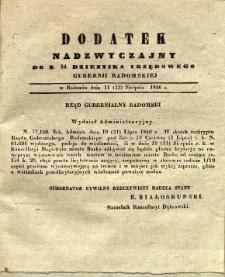 Dziennik Urzędowy Gubernii Radomskiej, 1846, nr 34, dod. nadzwyczajny II