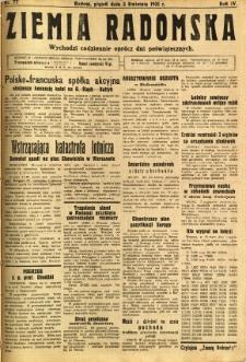 Ziemia Radomska, 1931, R. 4, nr 77