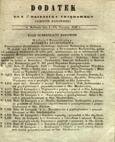Dziennik Urzędowy Gubernii Radomskiej, 1846, nr 37, dod.
