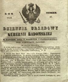 Dziennik Urzędowy Gubernii Radomskiej, 1846, nr 40