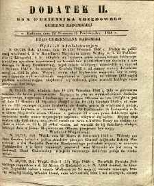 Dziennik Urzędowy Gubernii Radomskiej, 1846, nr 40, dod. II
