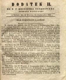 Dziennik Urzędowy Gubernii Radomskiej, 1846, nr 41, dod. II