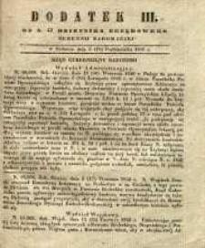 Dziennik Urzędowy Gubernii Radomskiej, 1846, nr 42, dod. III