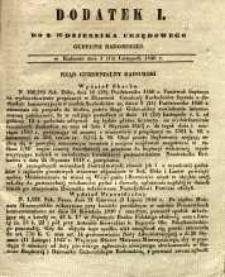 Dziennik Urzędowy Gubernii Radomskiej, 1846, nr 46, dod. I
