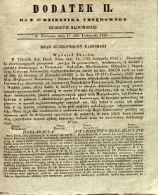 Dziennik Urzędowy Gubernii Radomskiej, 1846, nr 48, dod. II