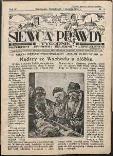 Siewca Prawdy, 1934, R. 4, nr 1