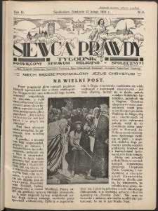 Siewca Prawdy, 1934, R. 4, nr 9