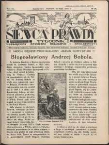 Siewca Prawdy, 1934, R.4, nr 20