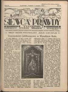 Siewca Prawdy, 1934, R.4, nr 36