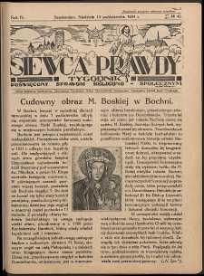 Siewca Prawdy, 1934, R.4, nr 42