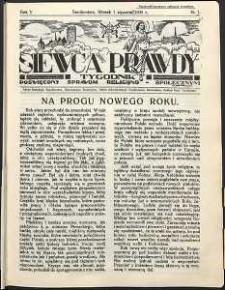 Siewca Prawdy, 1935, R. 5, nr 1