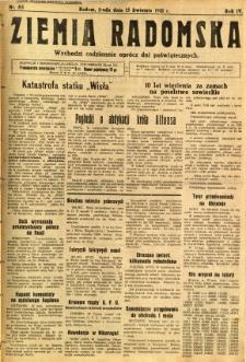 Ziemia Radomska, 1931, R. 4, nr 85