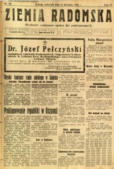 Ziemia Radomska, 1931, R. 4, nr 86