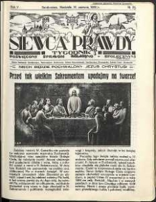Siewca Prawdy, 1934, R.4, nr 25