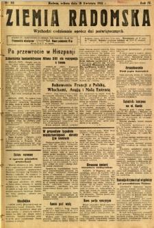 Ziemia Radomska, 1931, R. 4, nr 88