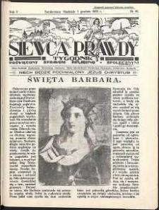 Siewca Prawdy, 1935, R.5, nr 49