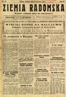 Ziemia Radomska, 1931, R. 4, nr 89