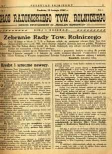 Przegląd Sejmikowy : Urzędowy Organ Sejmiku Radomskiego, 1925, R. 4, nr 7, dod.