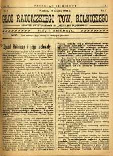 Przegląd Sejmikowy : Urzędowy Organ Sejmiku Radomskiego, 1925, R. 4, nr 11, dod.