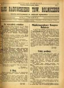 Przegląd Sejmikowy : Urzędowy Organ Sejmiku Radomskiego, 1925, R. 4, nr 15, dod. II