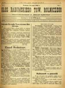 Przegląd Sejmikowy : Urzędowy Organ Sejmiku Radomskiego, 1925, R. 4, nr 18, dod.