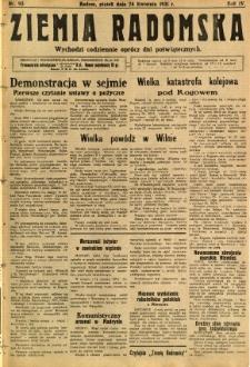 Ziemia Radomska, 1931, R. 4, nr 93