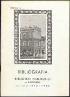 Bibliografia Biblioteki Publicznej w Radomiu za lata 1972-1982