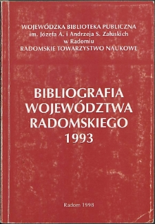 Bibliografia Województwa Radomskiego 1993