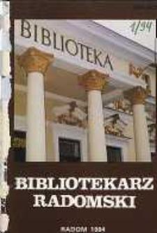Bibliotekarz Radomski, 1994, R. 2, nr 1