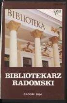 Bibliotekarz Radomski, R. 2, 1994, nr 2