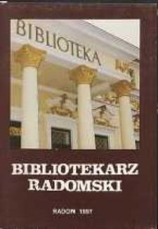 Bibliotekarz Radomski, 1997, R. 5, nr 2