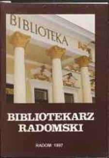 Bibliotekarz Radomski, 1997, R. 5, nr 4
