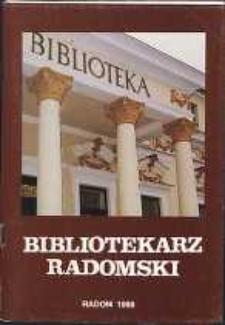 Bibliotekarz Radomski, 1998, R. 6, nr 3