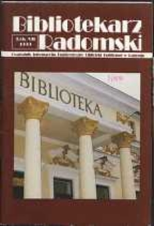 Bibliotekarz Radomski, 1999, R. 7, nr 3