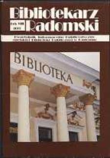 Bibliotekarz Radomski, 2000, R. 8, nr 1