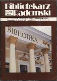 Bibliotekarz Radomski, 2000, R. 8, nr 2