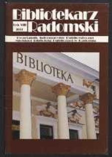 Bibliotekarz Radomski, 2000, R. 8, nr 4